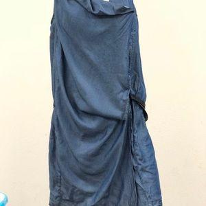 Helmut Lang Denim Silky Wash Wrap Dress size 8